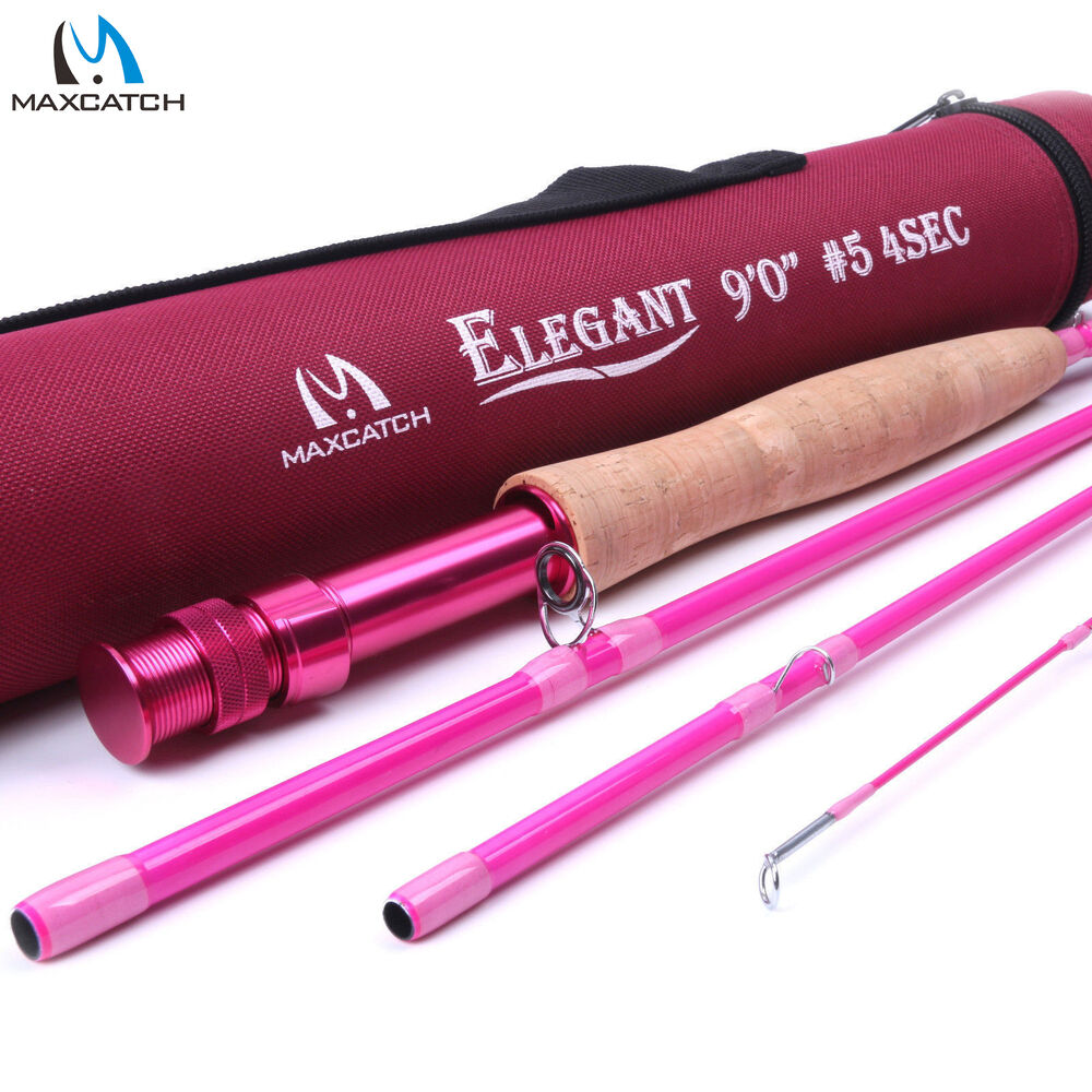 5wt women 39 s pink fly rod 9ft 4sec medium fast fly fishing for Pink fishing rods
