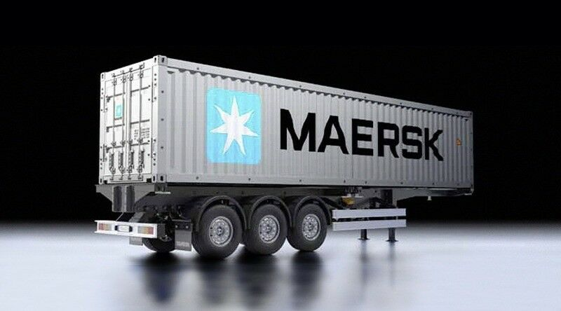tamiya 40 fu container auflieger maersk 56326 ebay. Black Bedroom Furniture Sets. Home Design Ideas