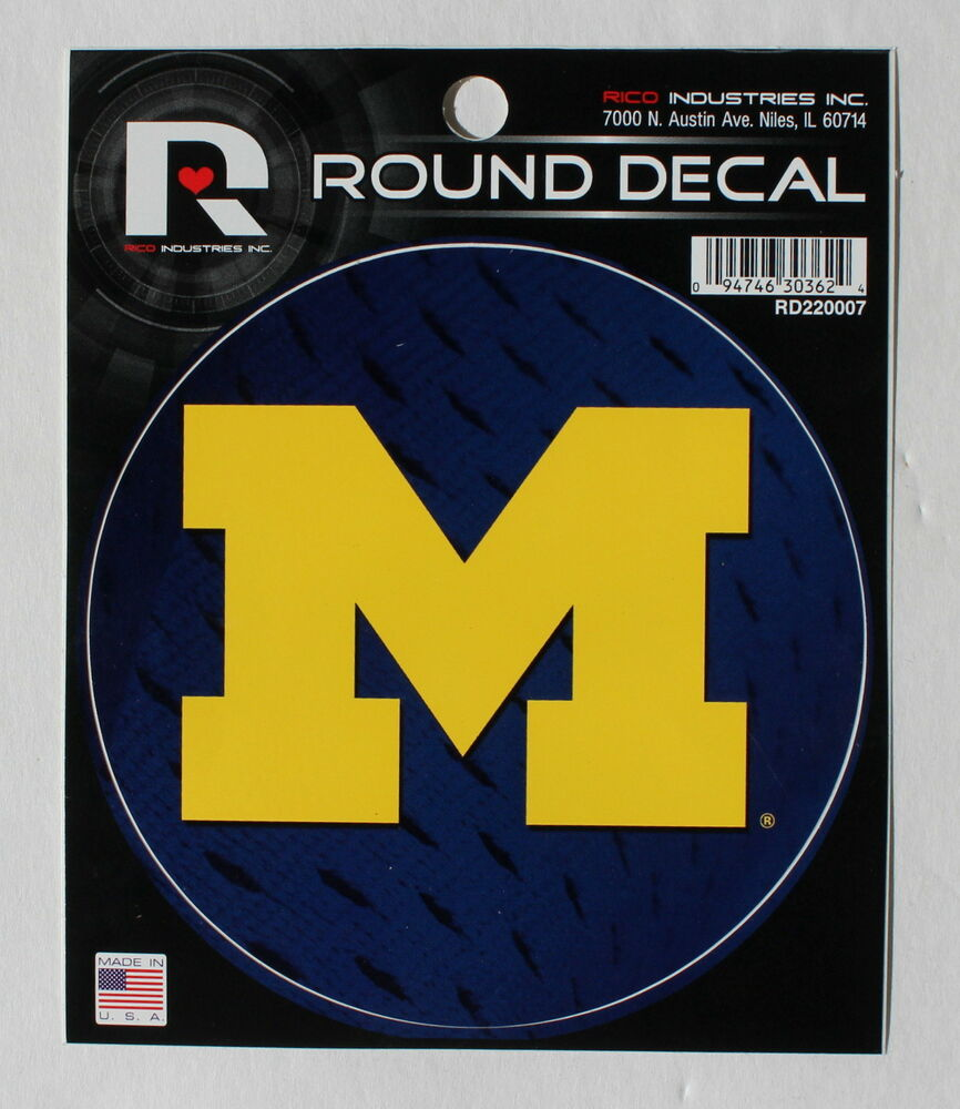 University Of Michigan Logo Round Decal Car Window Sticker
