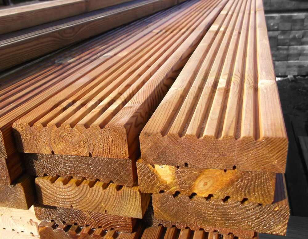 Wood Deck Boards ~ Pack of m decking boards wooden timber mm