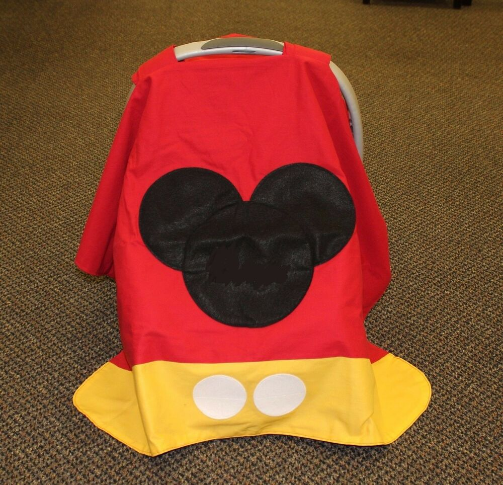 mickey mouse personalized infant car seat canopy ebay. Black Bedroom Furniture Sets. Home Design Ideas