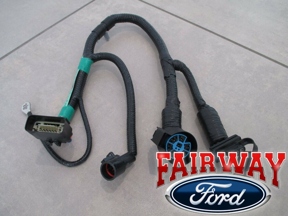 Wiring Harness 7 Pin Trailer : Thru f oem genuine ford pin trailer tow wiring