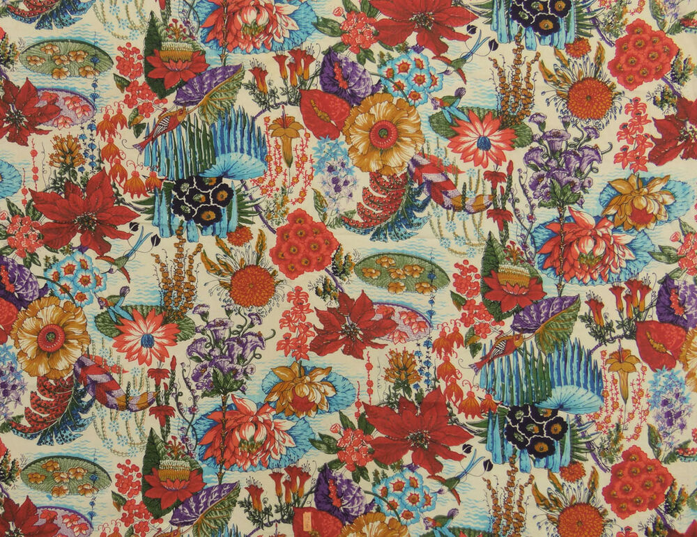 Indian floral print dressmaking cotton fabric decorative for Fabric supply