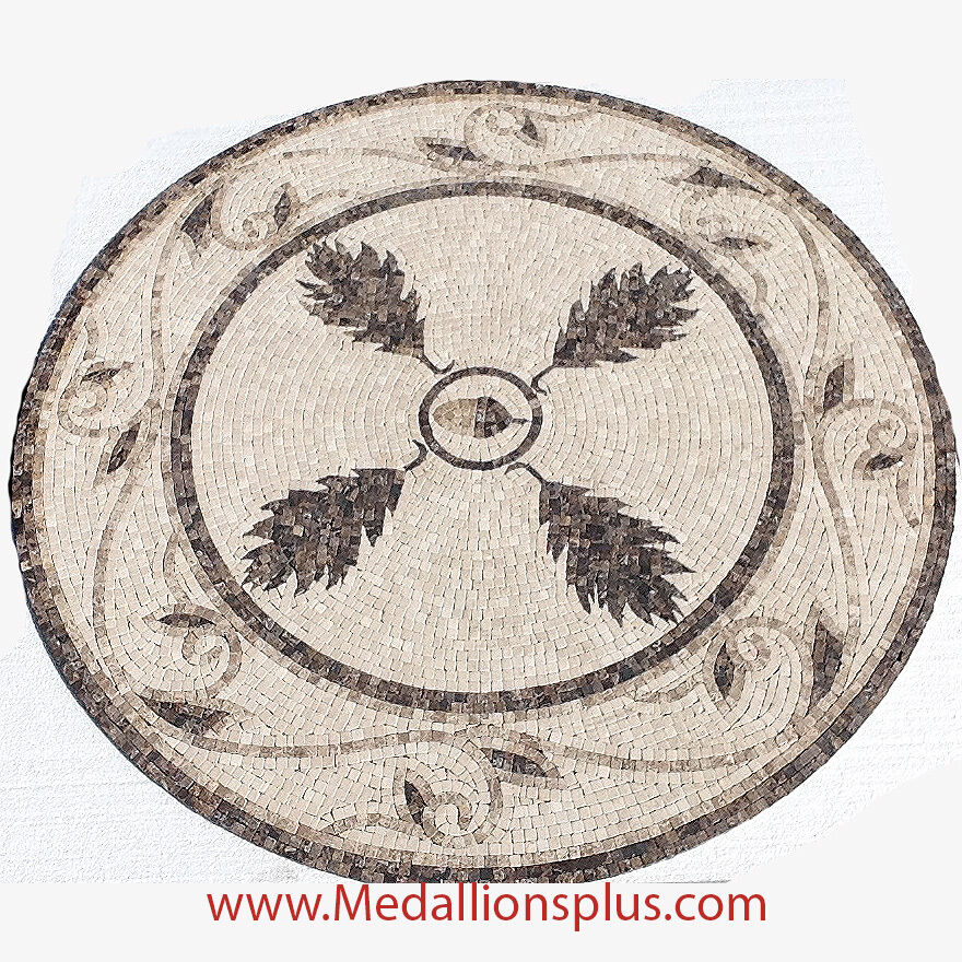 Mosaic Floor Inlay : Quot round floor medallion mosaic tile medallions inlay