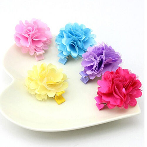 5pcs Baby Infant Girls Children Flower Hair Pin Clips Hairpin Accessories JH