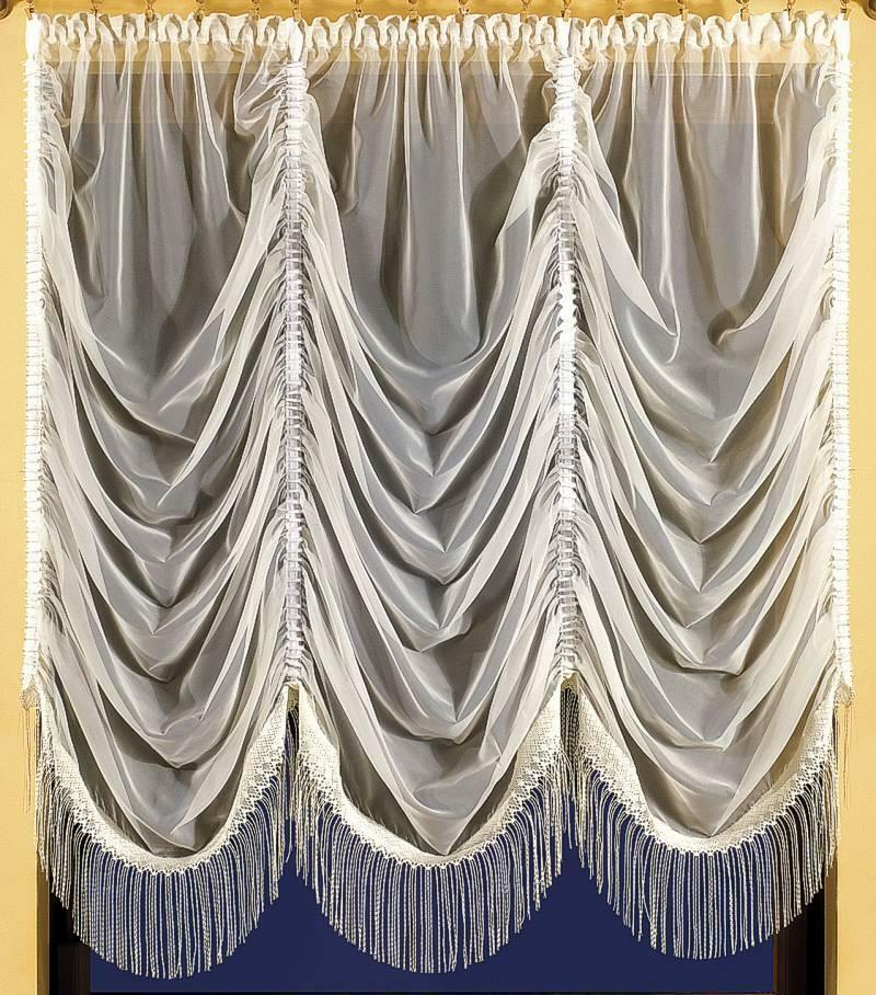 Beautiful voile cream and white net curtains waves for Window net curtain