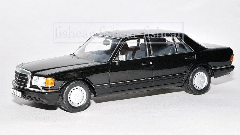mercedes 560sel w126 schwarz 1 18 norev ebay. Black Bedroom Furniture Sets. Home Design Ideas