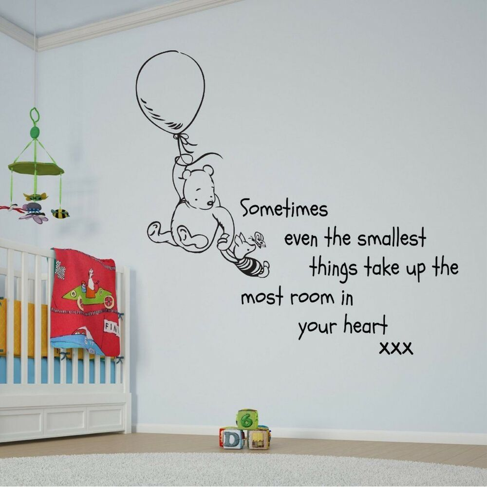 Wall Art Quotes Disney : Disney winnie the pooh balloon quote large wall sticker