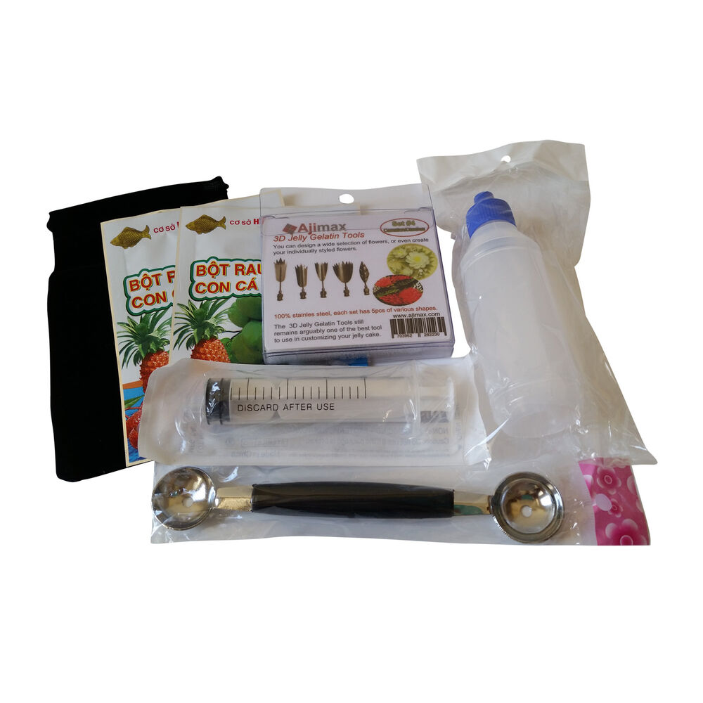 Cake Art Kit : Starter Kit 3D Jelly Gelatin Tools Jello Art Cake ...