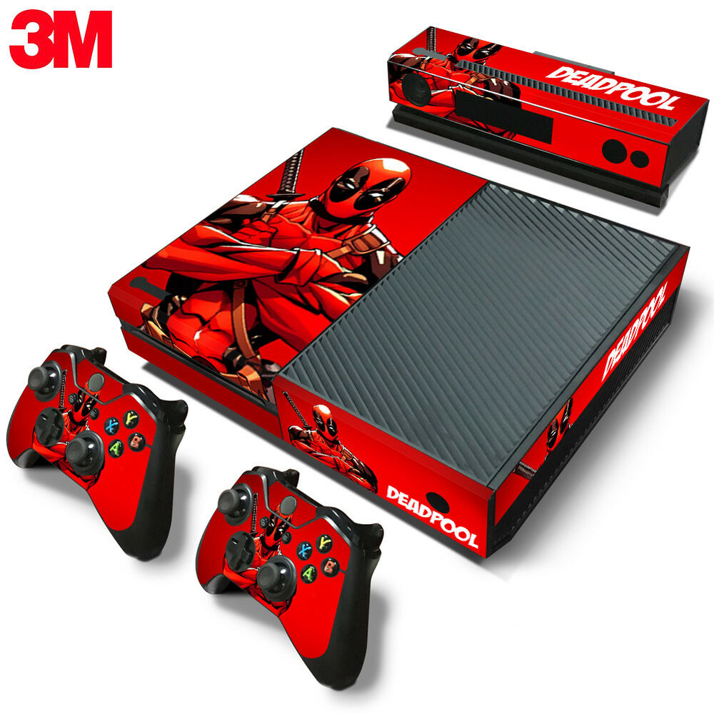 Xbox One Console Skin Decal Sticker DeadPool + 2 ...Xbox One Skins