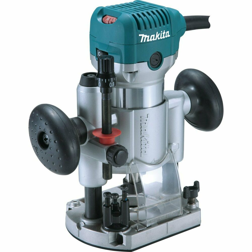 makita rt0701cx7 1 1 4 hp 10 000 30 000 rpm variablew speed compact router kit ebay. Black Bedroom Furniture Sets. Home Design Ideas