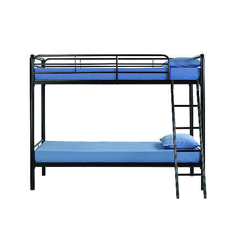 Twin Over Twin Bunk Beds Metal Kids Teens Boys Girls Dorm