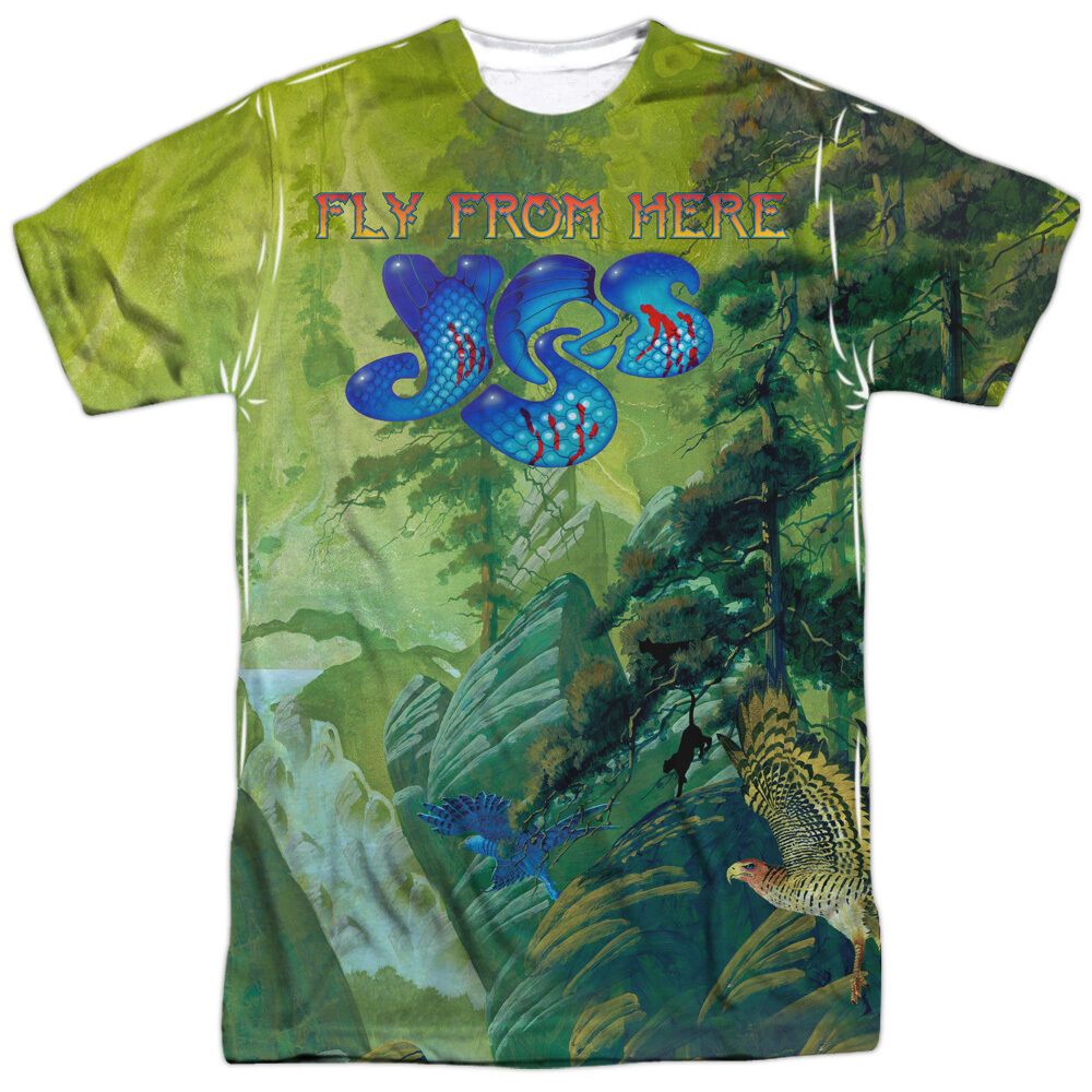 yes rock band fly from here album cover 2 sided sublimation poly shirt s 3xl ebay. Black Bedroom Furniture Sets. Home Design Ideas
