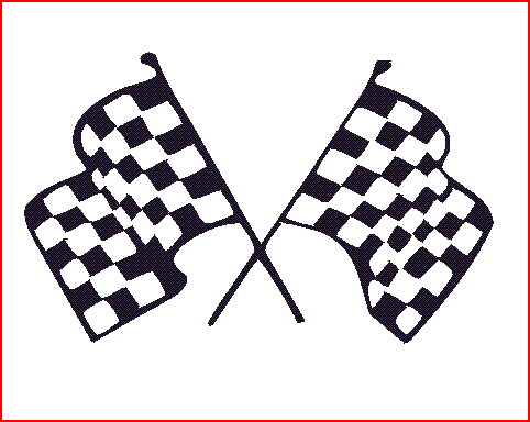 1 Pair Of Lambretta Vespa Chequered Flags Decal Sticker