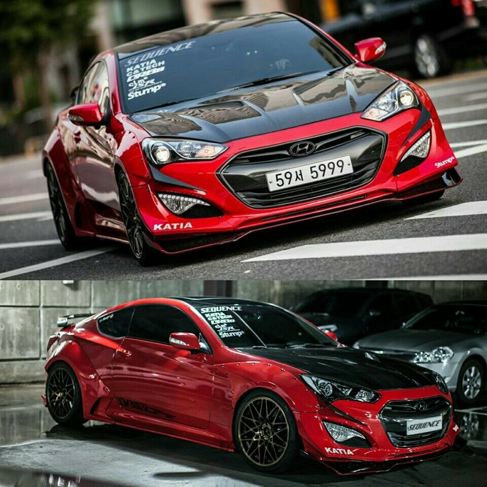Sequence Zero-Kit Series Side Skirts For Hyundai Genesis