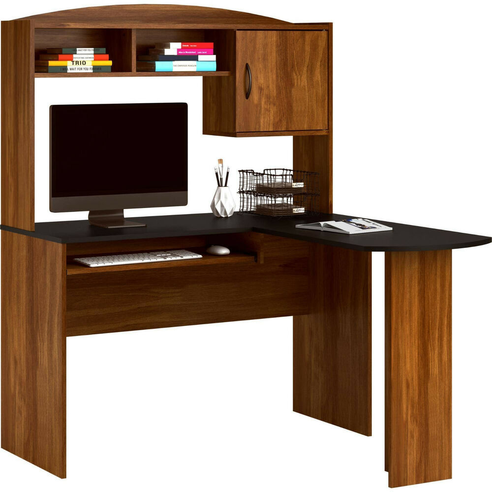 Corner computer desk l shaped workstation home office student furniture new ebay - Home office desks furniture ...