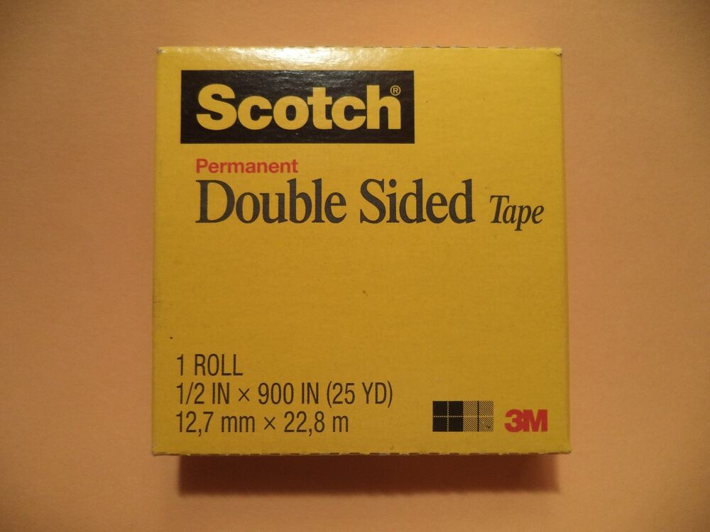 3m scotch double coated tape 665 double sided roll 1 core photo safe ebay. Black Bedroom Furniture Sets. Home Design Ideas