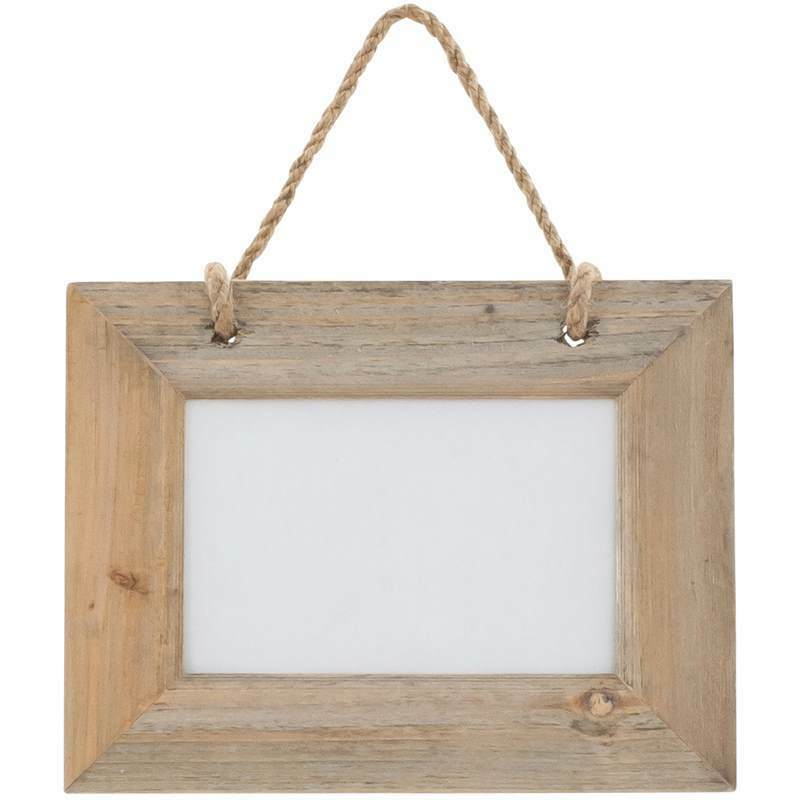 Driftwood rustic hanging photo frame with rope fits 7 x 5 Rope photo frame
