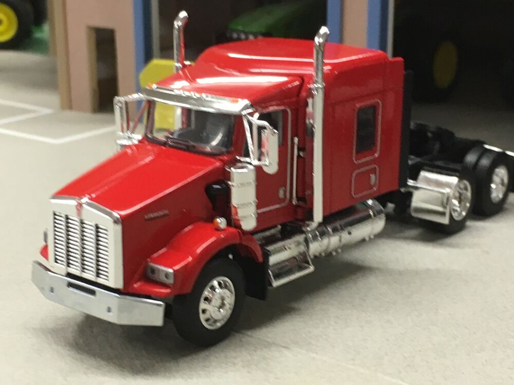 Semi Truck That S Also A Toy Car Holder : Dcp red kenworth t w quot sleeper ebay