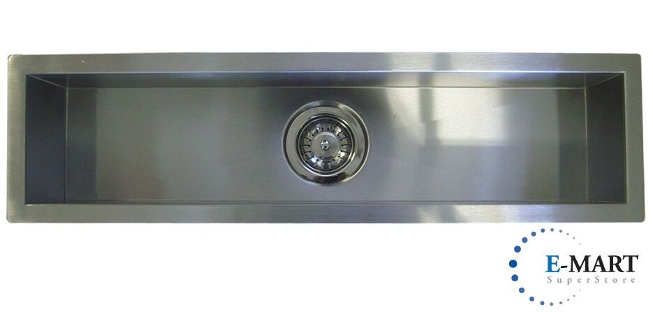 42 Inch Stainless Steel Undermount Single Narrow Bowl Kitchen / Bar ...