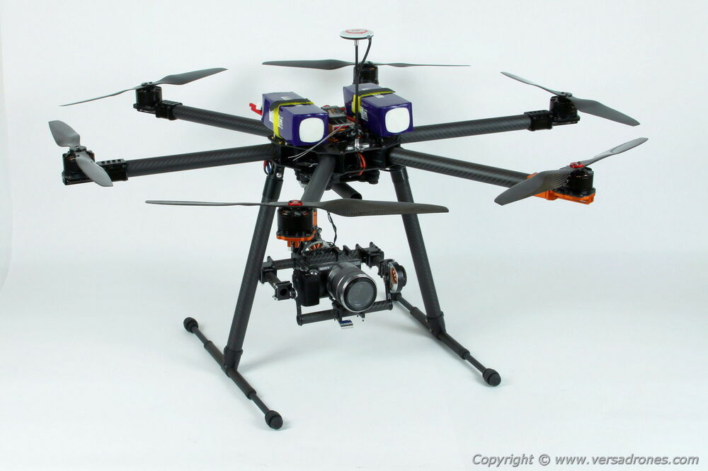 Heavy Lift Quadcopter : Hexacopter drone heavy lift flying time over min ebay