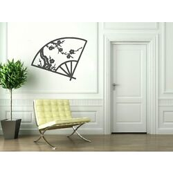 Asian Cherry Blossom Fan Home Decal- Great for walls of your home and as gifts.