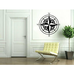 NAUTICAL COMPASS WALL STICKER DECAL-Great for walls of your home and as gifts.
