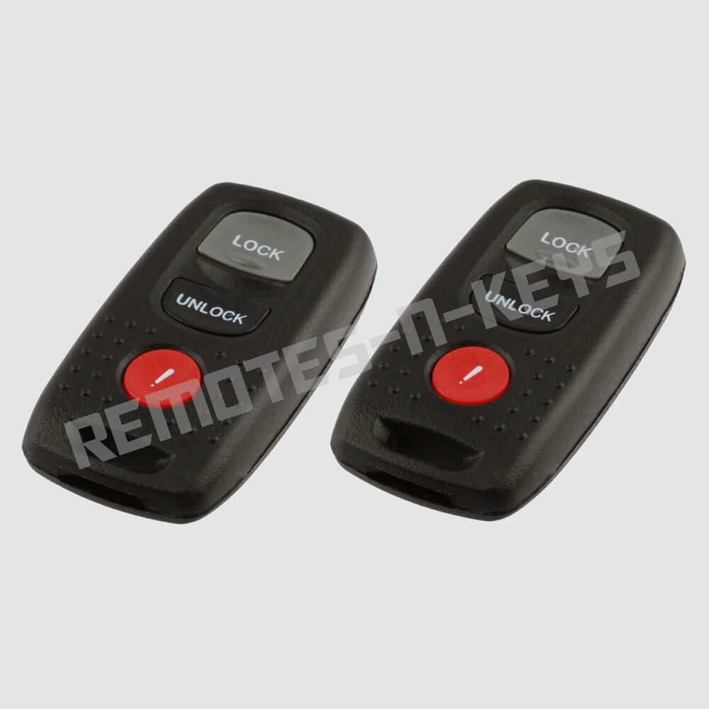 2 New Replacement Keyless Entry Remote Car Key Fob Control ...