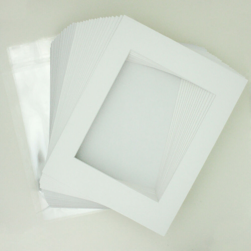 10 11 Quot X14 Quot White Picture Mat Set White Core Bevel 8 Quot X10