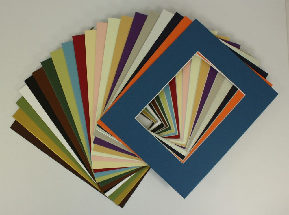 Set Of 20 8x10 Photo Picture Mats For 5x7 Ebay