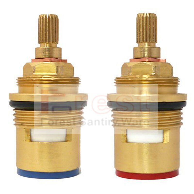 Everso Ceramic Thermostatic Valve Faucet Cartridge: 2PCS Pair 3/4 Ceramic Disc Cartridge Mixer Tap Inner