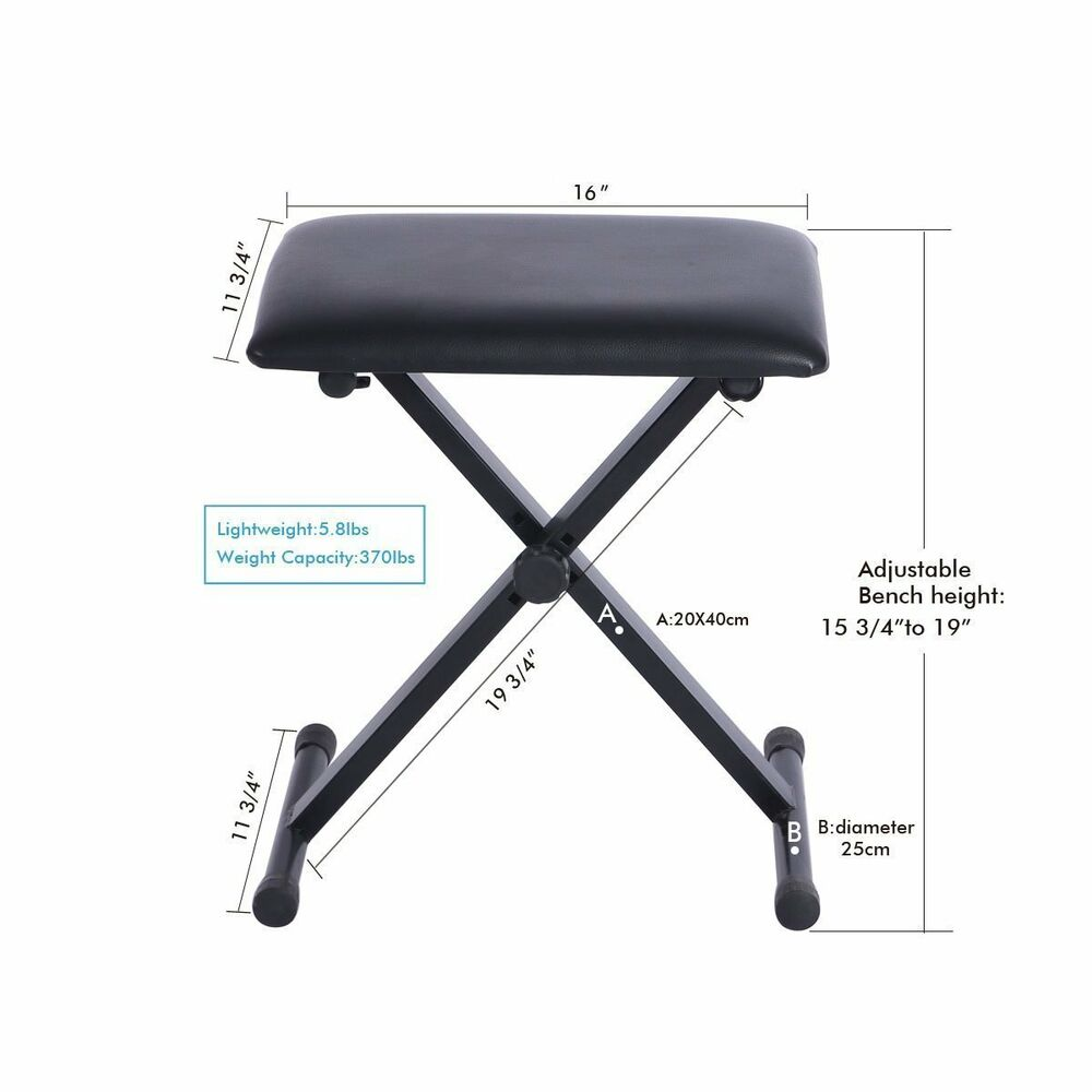 Portable Piano Keyboard Music X Style Adjustable Padded