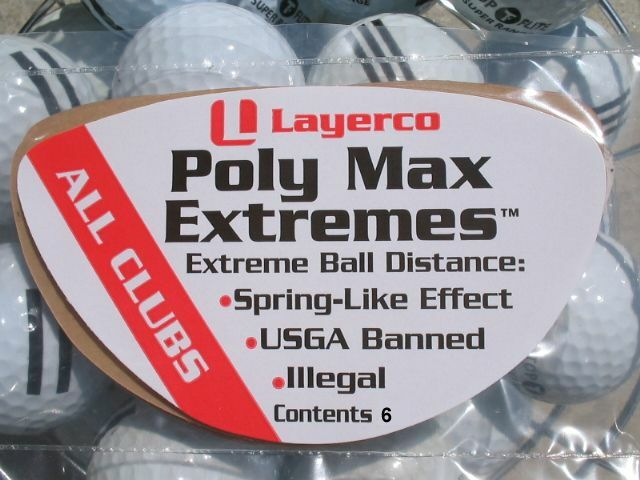 Illegal Golf Product Poly Max Extremes Usga Banned For