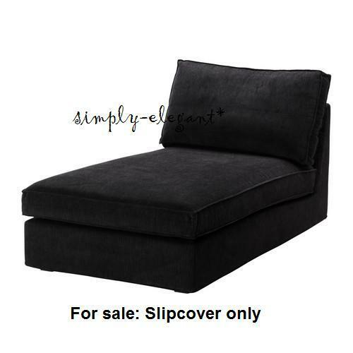 Slipcover Sofa Chaise Lounge: IKEA COVER For IKEA KIVIK Chaise Lounge Corduroy Slipcover
