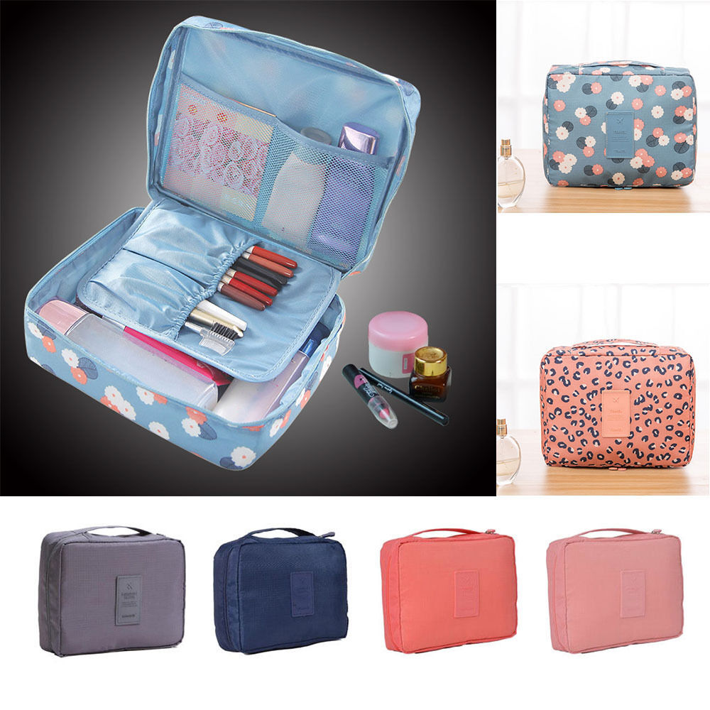 Travel Cosmetic Makeup Bag Toiletry Case Wash Organizer