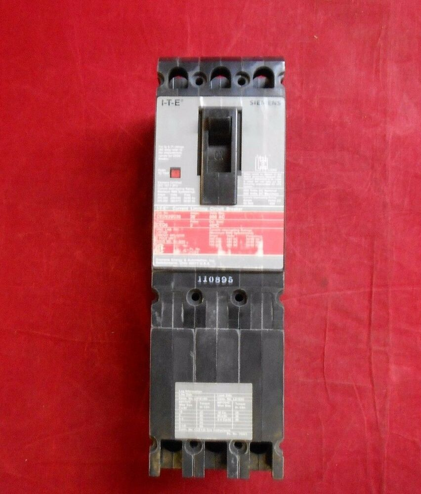 I T E Siemens Ced63b030 Current Limiting Breaker New In Box Ebay Used Circuit Breakers Ite E43b060 60 Amp 3 Pole