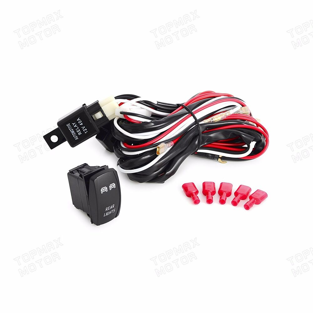 2m wiring harness blue led light bar laser front rocker switch 5pin ranger rzr ebay Wiring Harness Terminals and Connectors Engine Wiring Harness