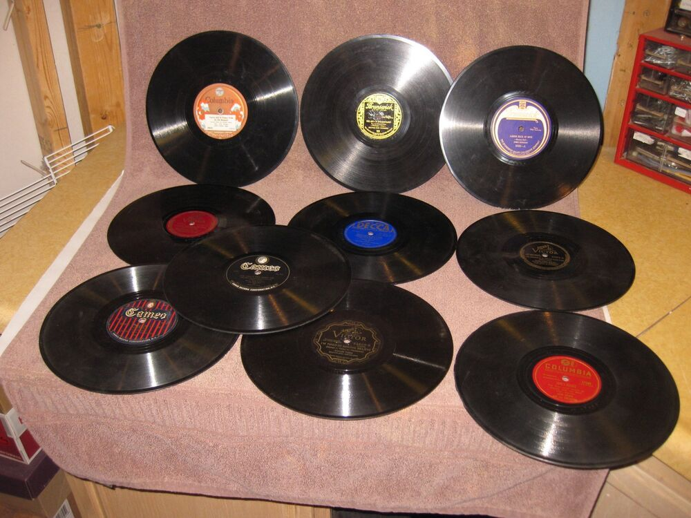 Mixed Lot of 10 Hillbilly / Country 78 RPM Records for