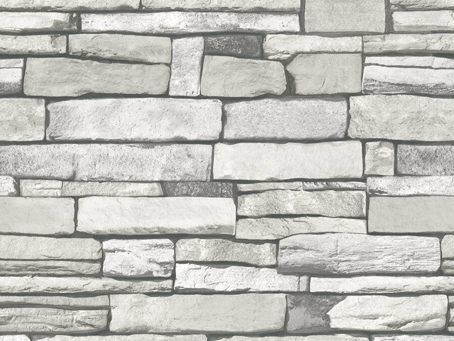 Gray Stone Brick Look Contact Paper Self Adhesive