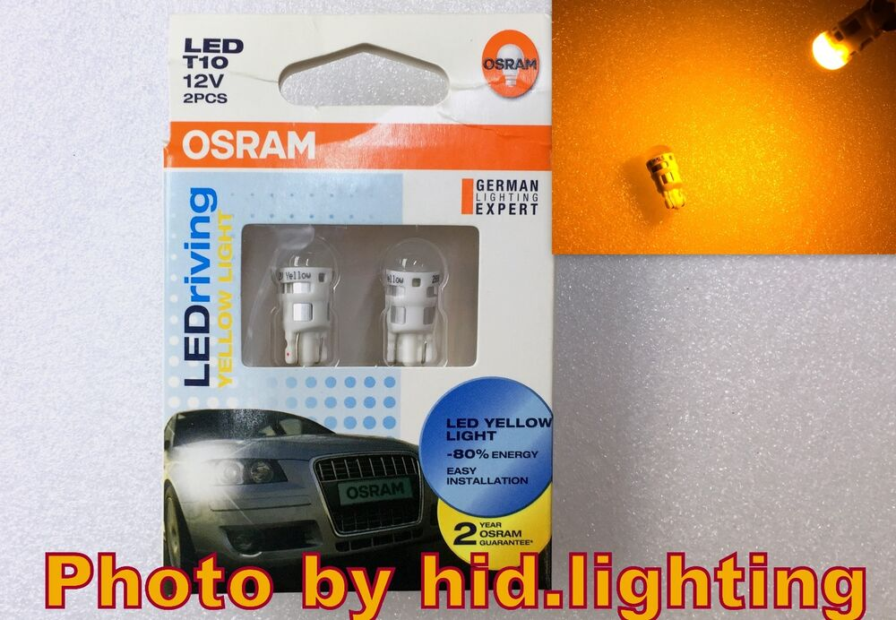 osram led bulb t10 ledriving w5w wy5w amber yellow 2000k. Black Bedroom Furniture Sets. Home Design Ideas