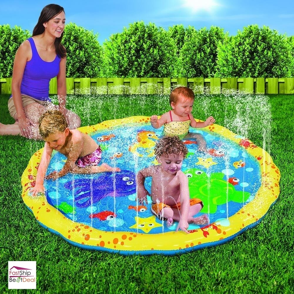 Sprinkle Sprays Splash Play Mat 54 Inch Kids Water Play