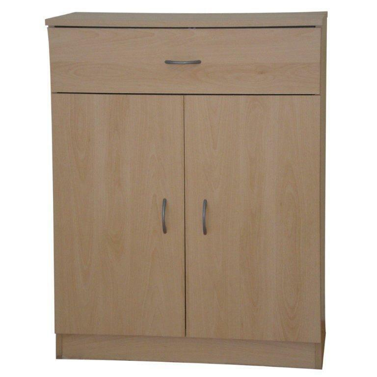 Cupboard storage unit beech 2 door 1 drawer office cabinet for 1 door cupboard