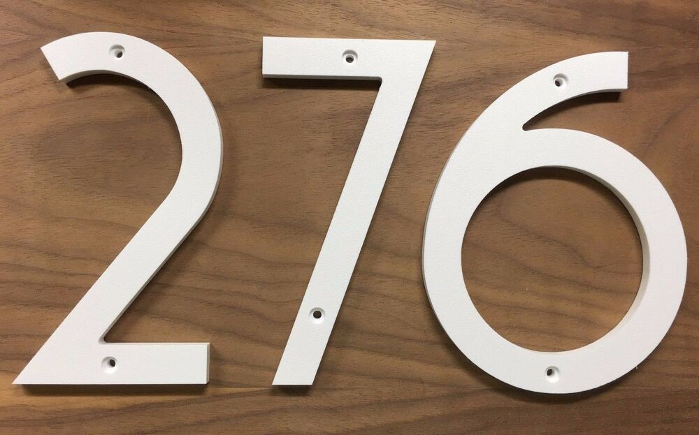 5 inch art deco house numbers letters color choices ebay. Black Bedroom Furniture Sets. Home Design Ideas