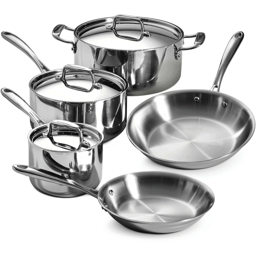 Tramontina 8 Piece 18 10 Stainless Steel Tri Ply Clad