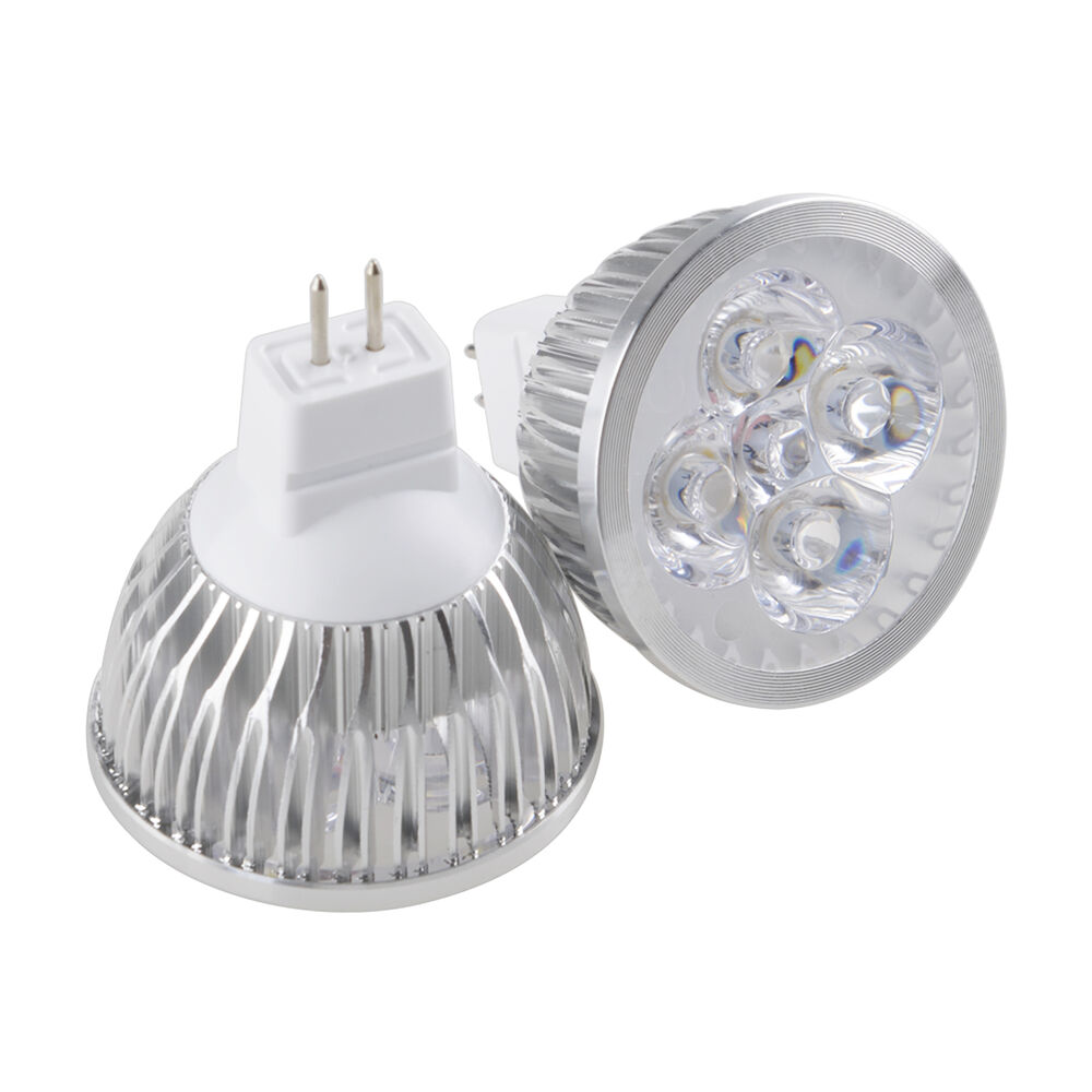 mr16 gu5 3 12w led spotlight 4x3w light bulb warm cool white lamp 12v power ebay. Black Bedroom Furniture Sets. Home Design Ideas