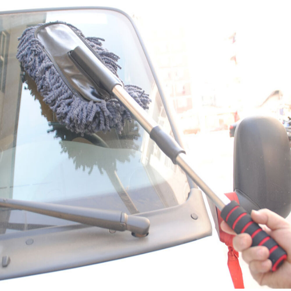 car wash cleaning brush duster dust wax mop microfiber telescoping dusting tool ebay. Black Bedroom Furniture Sets. Home Design Ideas