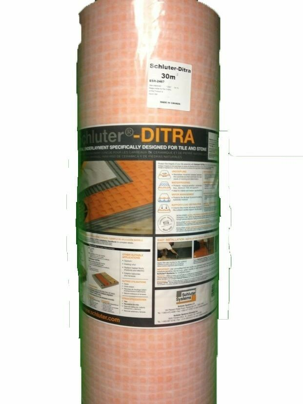 ditra schluter tile underlayment 323 sq ft full roll uncoupling menbrane ebay. Black Bedroom Furniture Sets. Home Design Ideas