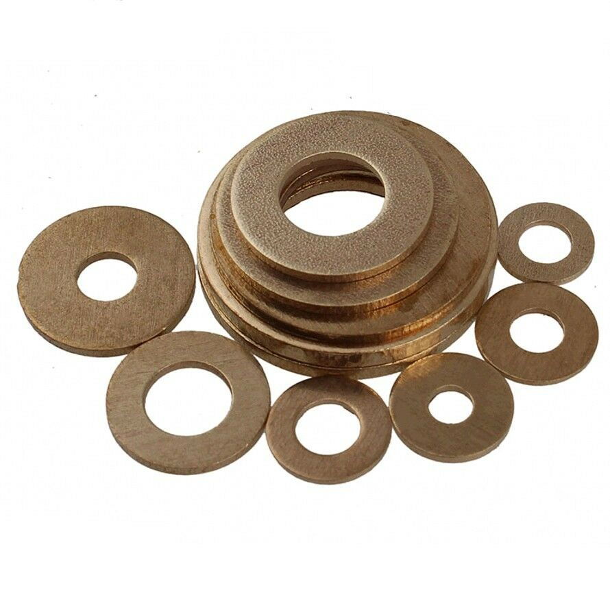 Solid Brass Flat Washers to Fit for Bolts & Screws M2,2.5 ...