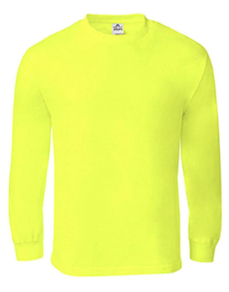 New mens aaa high visibility neon green plain safety for Neon green shirts for men