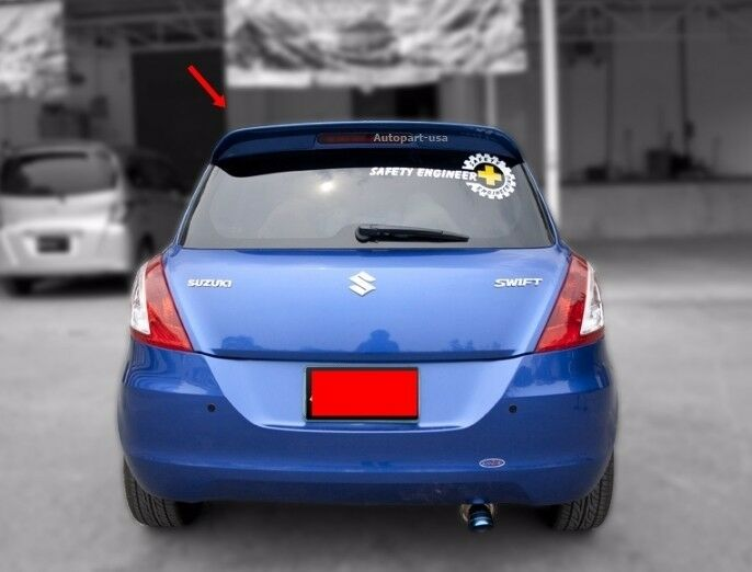Fit For Suzuki New Swift 2012 2015 Spoiler Trunk Wing Abs